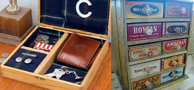used cigar boxes emtpy, An Elegant Personal Belongings Cigar Box & A Chest of Cigar Box Shelves