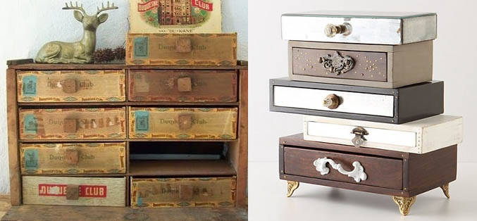 cigar box drawers