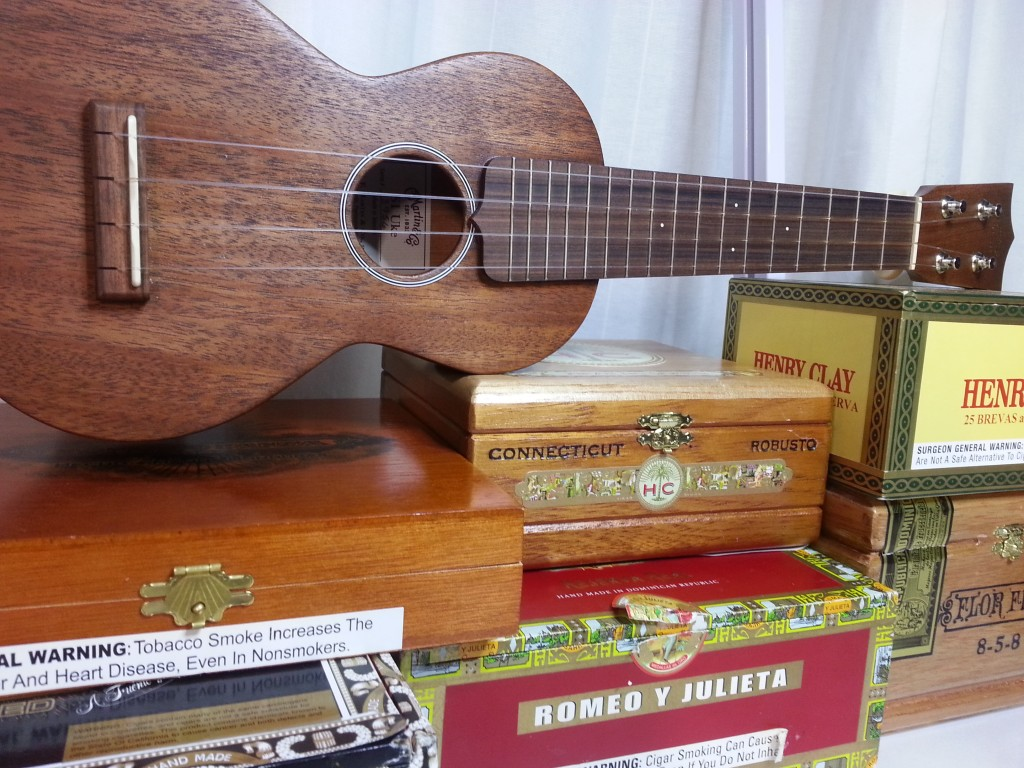 uke with cigar boxes