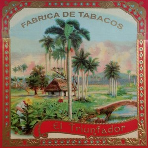 triunfador cigar box artwork