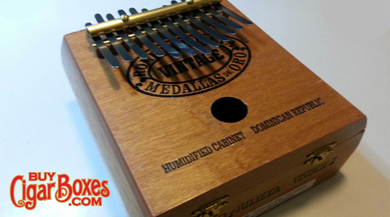 cigar box kalimba thumb piano